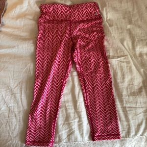 Vineyard Vines Pink Whale Cropped Leggings Sz S
